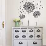 Black and White Dandelion Wall Art
