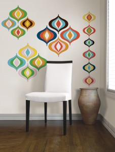 Bargello Waves designer wall art by Jonathan Adler for WallPops