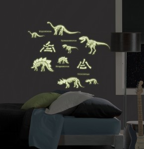 Glow in the Dark Dinosaurs Stickers for the Wall by WallPops