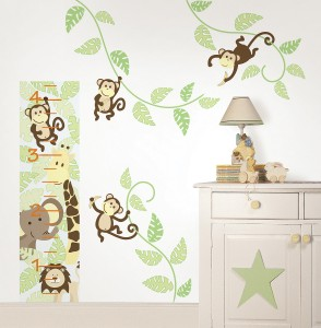 Nursery Decor Monkey Wall Decals from WallPops
