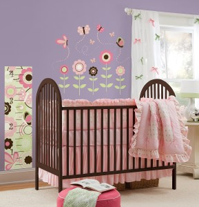 WallPops Nursery Decor Butterfly Garden Peel & Stick Decal Kit