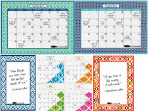 Get Organized with dry-erase calendar decals by WallPops & Jonathan Adler