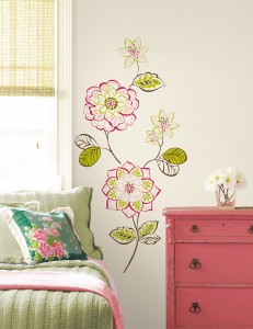 Dorm Decor idea flower decals on the wall by WallPops