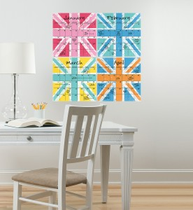 Dry-Erase Peel & Stick Calendar decals from WallPops