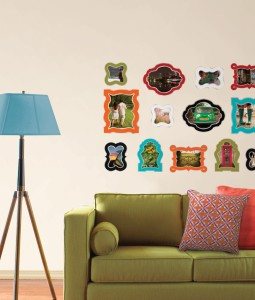 Dorm room picture frames for the wall peel & stick decals