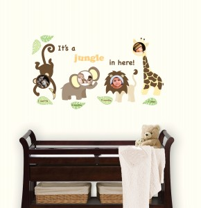 WallPops Peel and Stick Nursery Frame Decals Jungle Themed