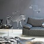 Sassy zebra art from WallPops wall decals