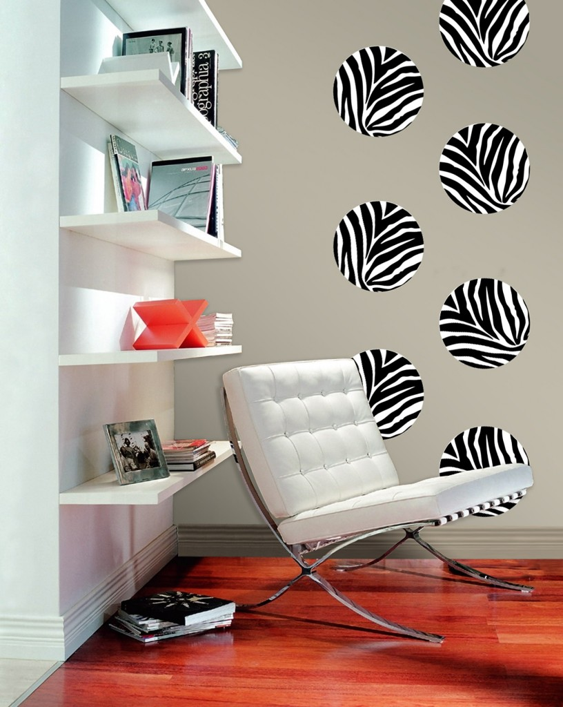 Zebra Art Removable Wall Decals from WallPops!