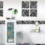 A Zebra Print Bathroom idea with WallPops zebra decals