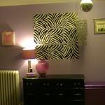 Tween Decor idea with black and white zebra decals