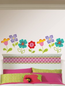 Flower wall art decals by WallPops