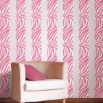 WallPops new pink zebra striped room