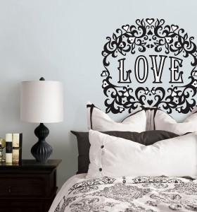 Love gift by Jonathan Adler for WallPops a flocked velvet wall decal