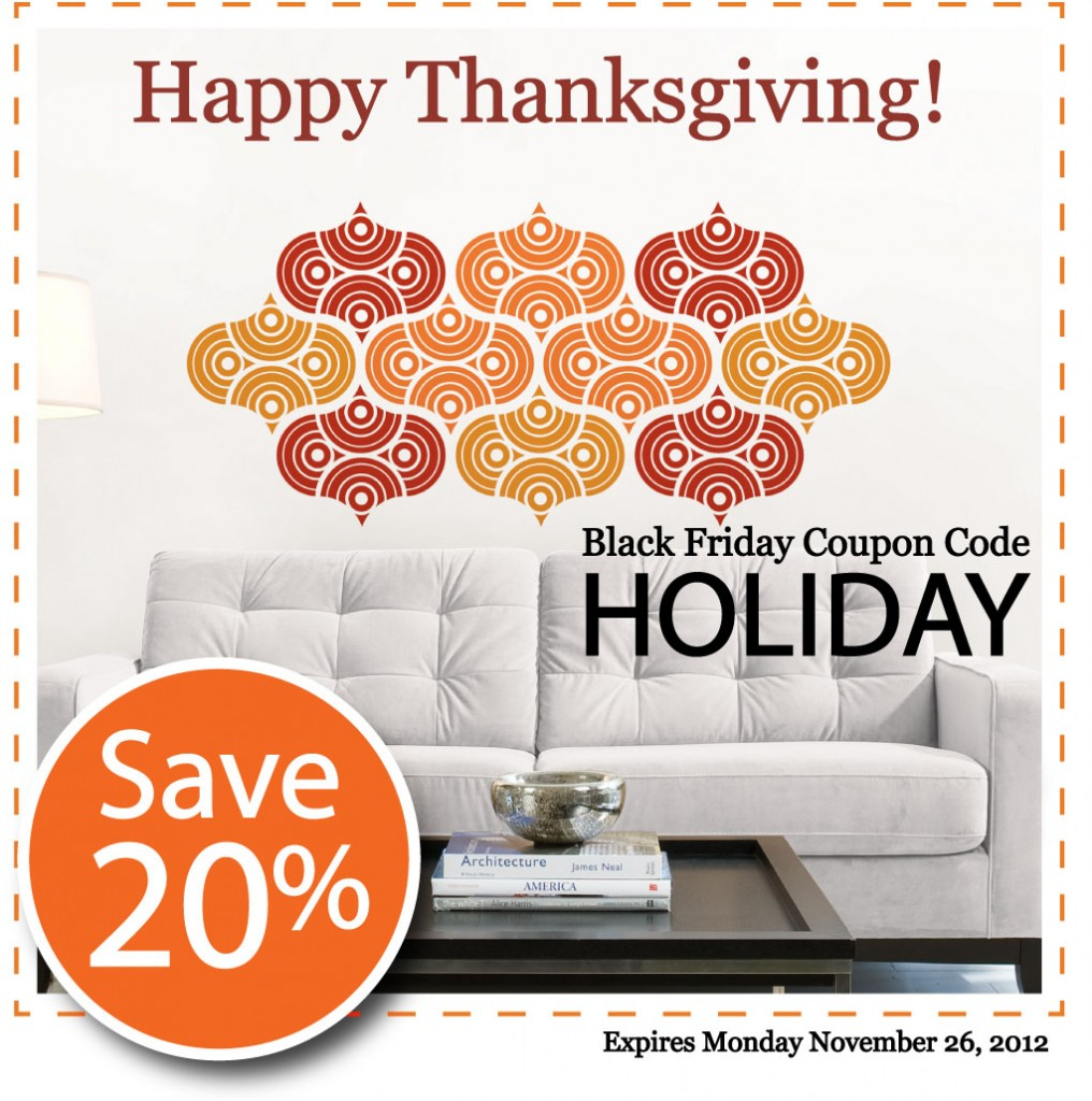 Early Black Friday Savings with Coupon Code HOLIDAY at WallPops