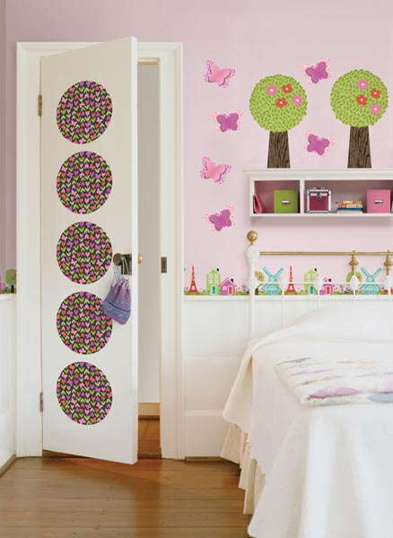 Use WallPops wall decals on a kids door