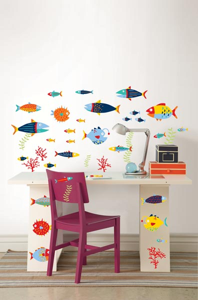 Kids Decor Idea with WallPops fish decals