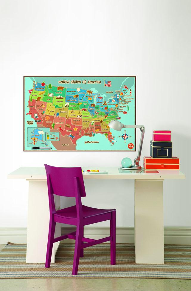 Kids Map Decal Dry-Erase