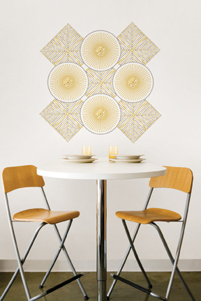 Designer Metallic Wall Decals by Jonathan Adler for WallPops