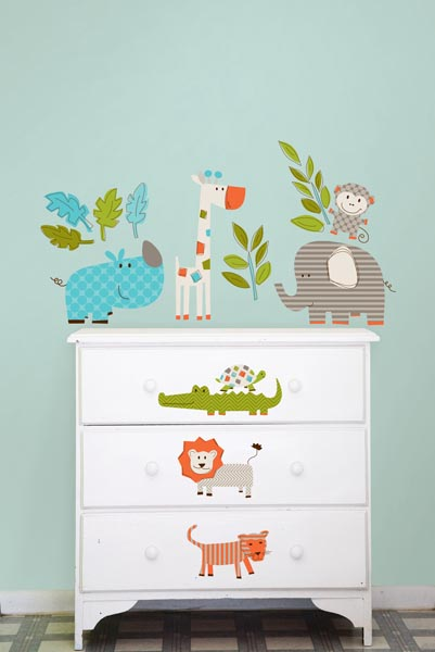 Lets Go On A Safari with new Kids Jungle Theme Wall Decals from WallPops
