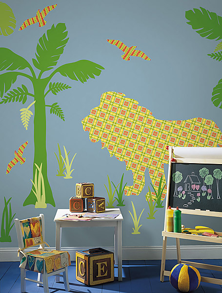 Lion Wall Decals for A Safari Theme Room