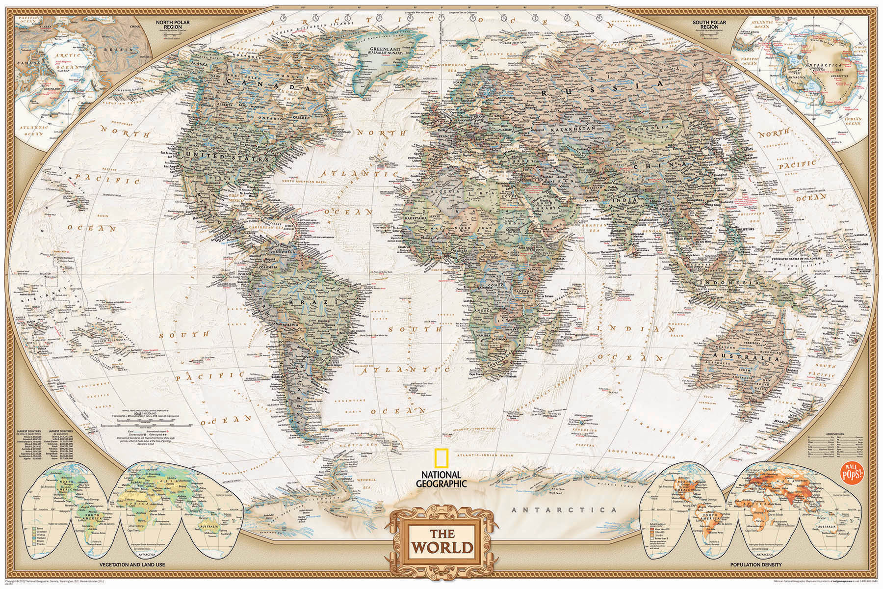 National Geographic Map Wall Decal