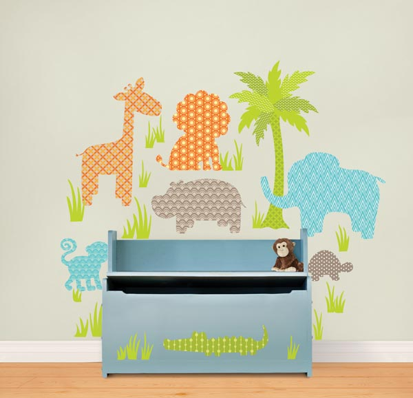 Jungle Decals in a Nursery by WallPops