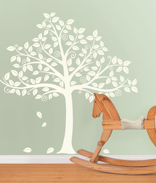 A White Tree Decal Beautiful in a Nursery