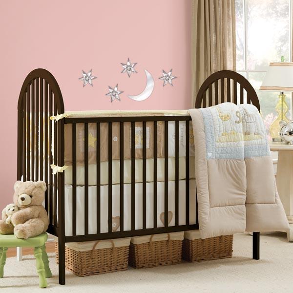 Mirror wall decals in nursery decor
