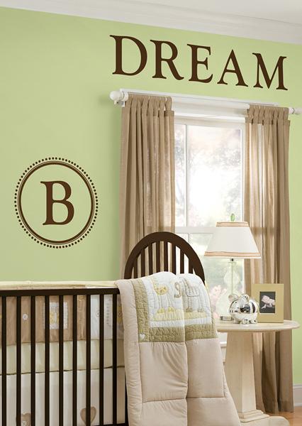 Monogram Wall Decals for Nursery Decorating Idea