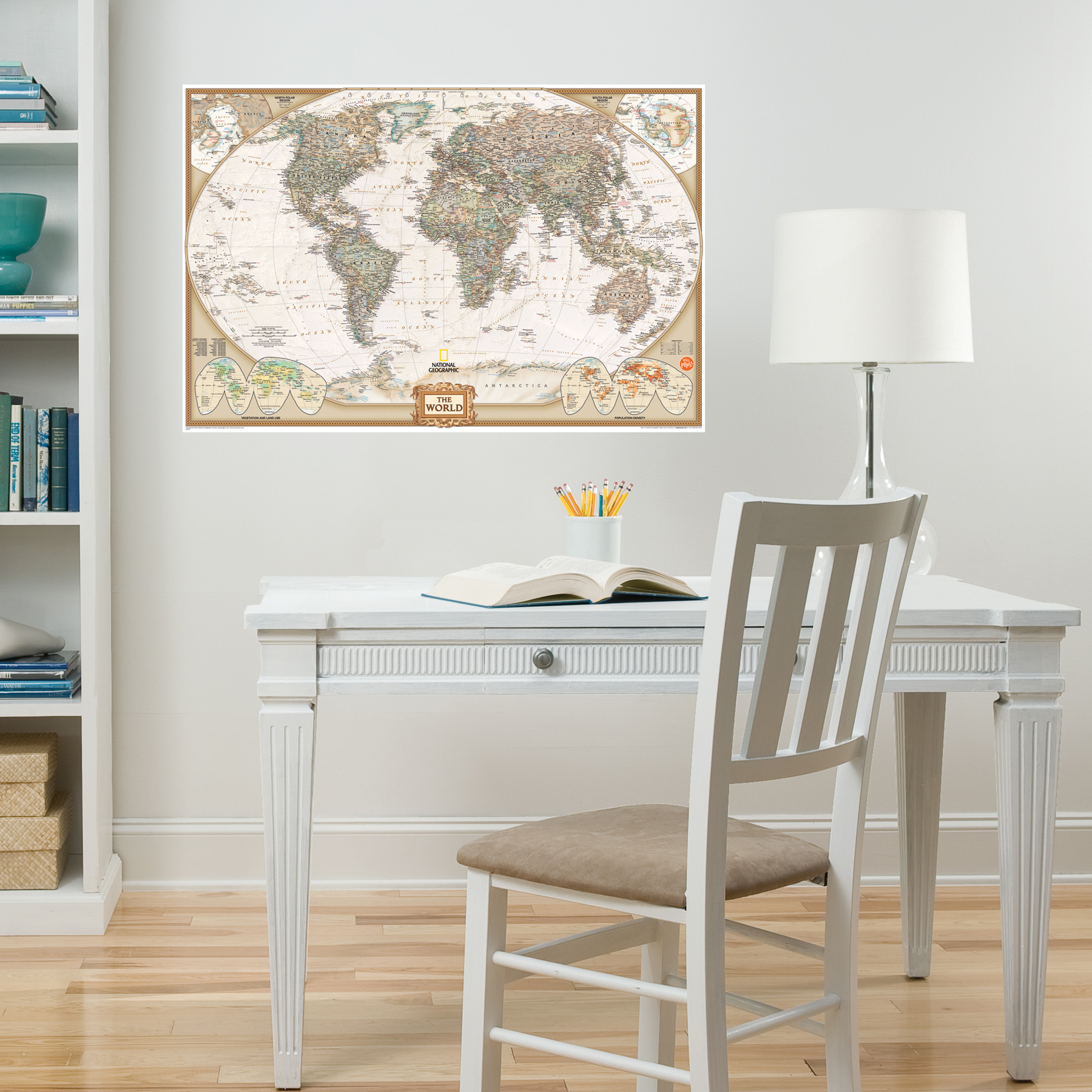National Geographic Map of the World for a Classroom