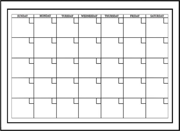 Dry-Erase Calendar Decal Classroom Decor Idea