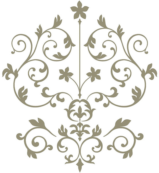 Damask Wall Decal Kit fit for Royal Nursery Decor
