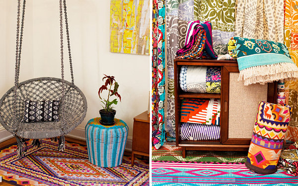 colorful Southwest trend tribal rugs from urban outfitters