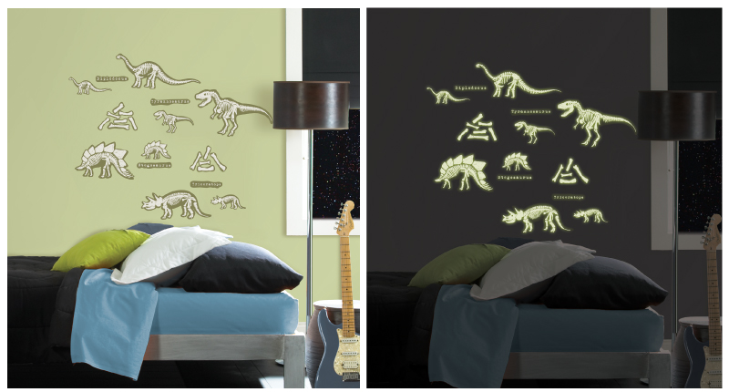 Glow in the dark wall decals stocking stuffer gift idea