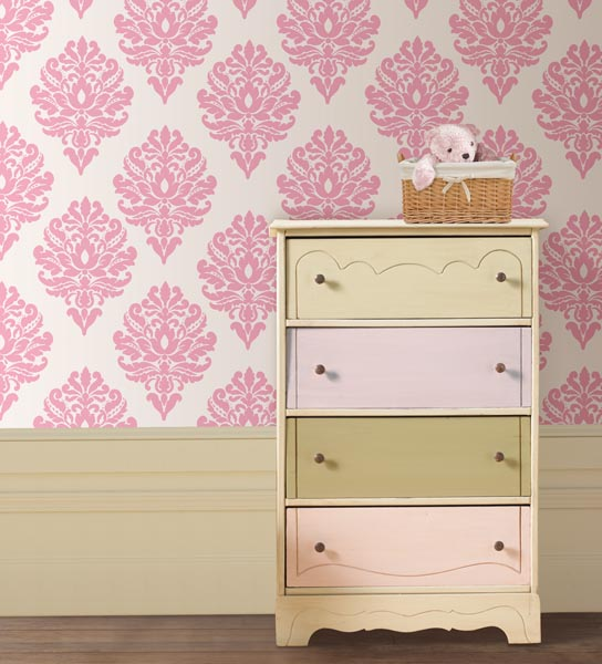 Peel and stick wallpaper with wall decals