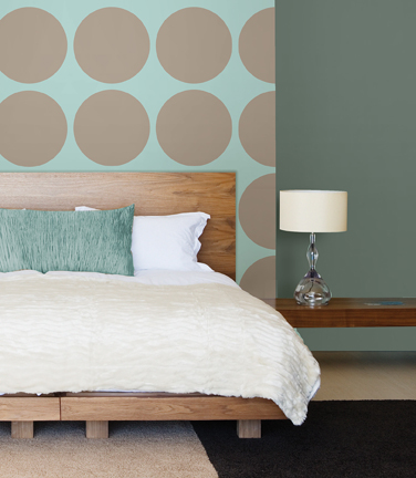 Polka Dot Wall peel & stick wallpaper with wall decals