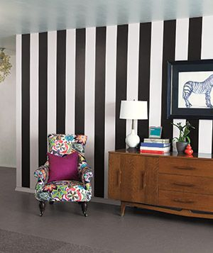 Peel and Stick wallpaper with removable wall decals by wallPops striped wall