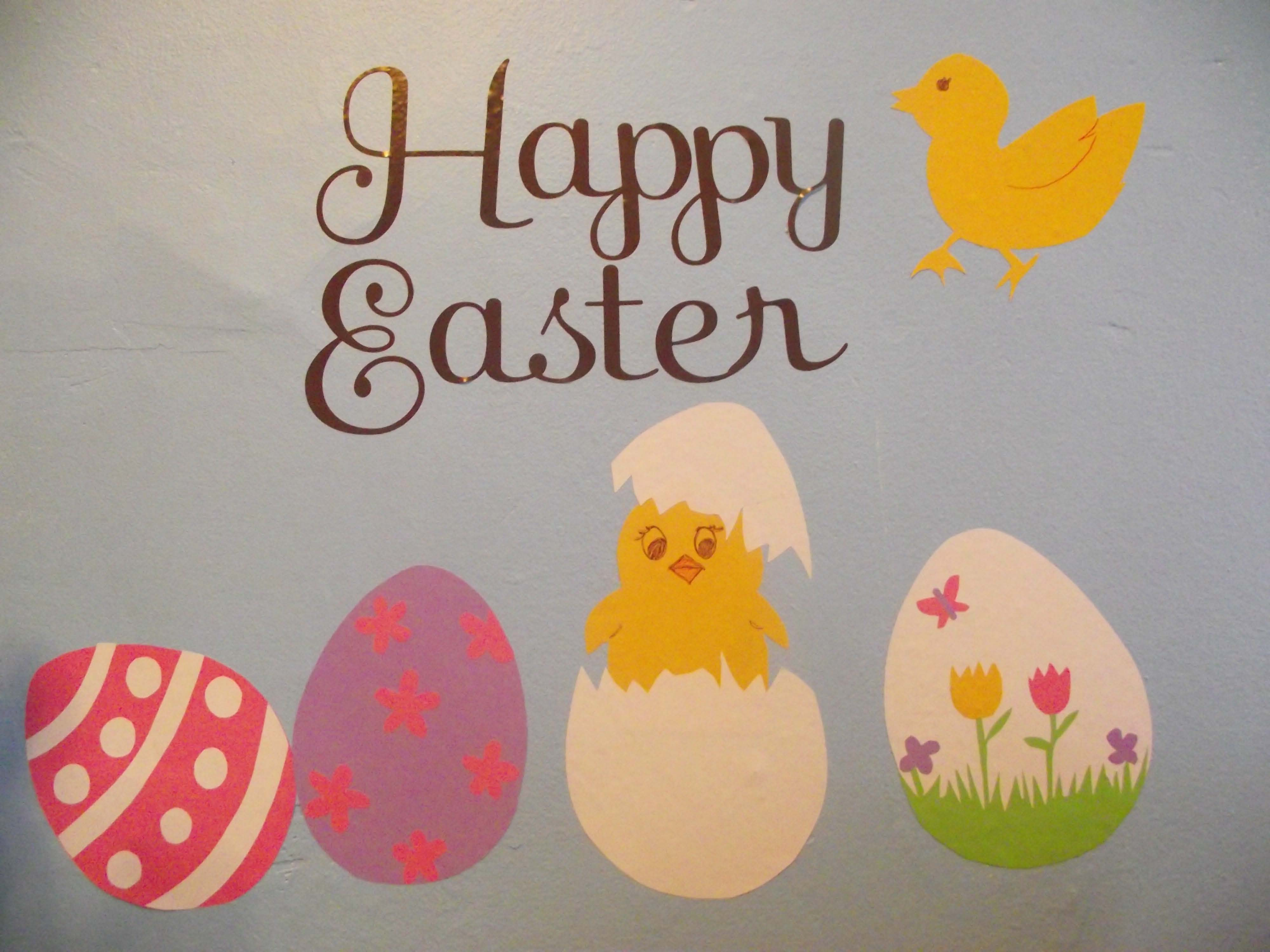 Happy Easter DIY wall decals eggs decor
