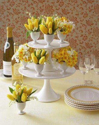 Cake Plate Easter Table Decor DIY Decor IDea