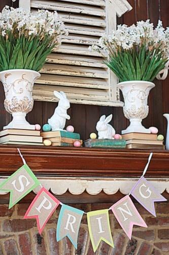 easter mantel idea sugarpie farm house