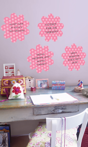 Desk Decor Ideas with dry-erase decals