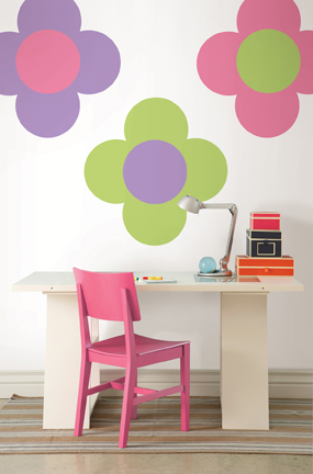 Desk Decor Ideas with decals