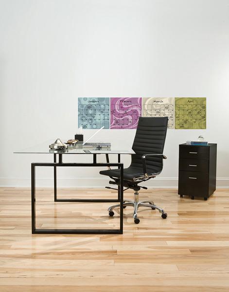 Desk Decor Ideas with Dry-erase calendar decals