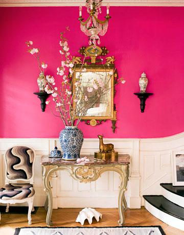 colorful foyer decor idea with designer impact