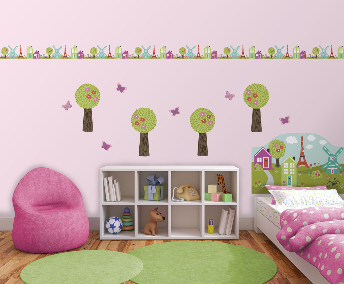 Dilly Dally Peel & Stick Headboard Decal for Kids Room Decor