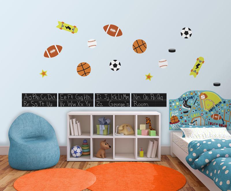 Junior Varsity Sports theme kids decor idea peel & stick headboard decal