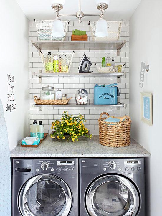 washing area decor