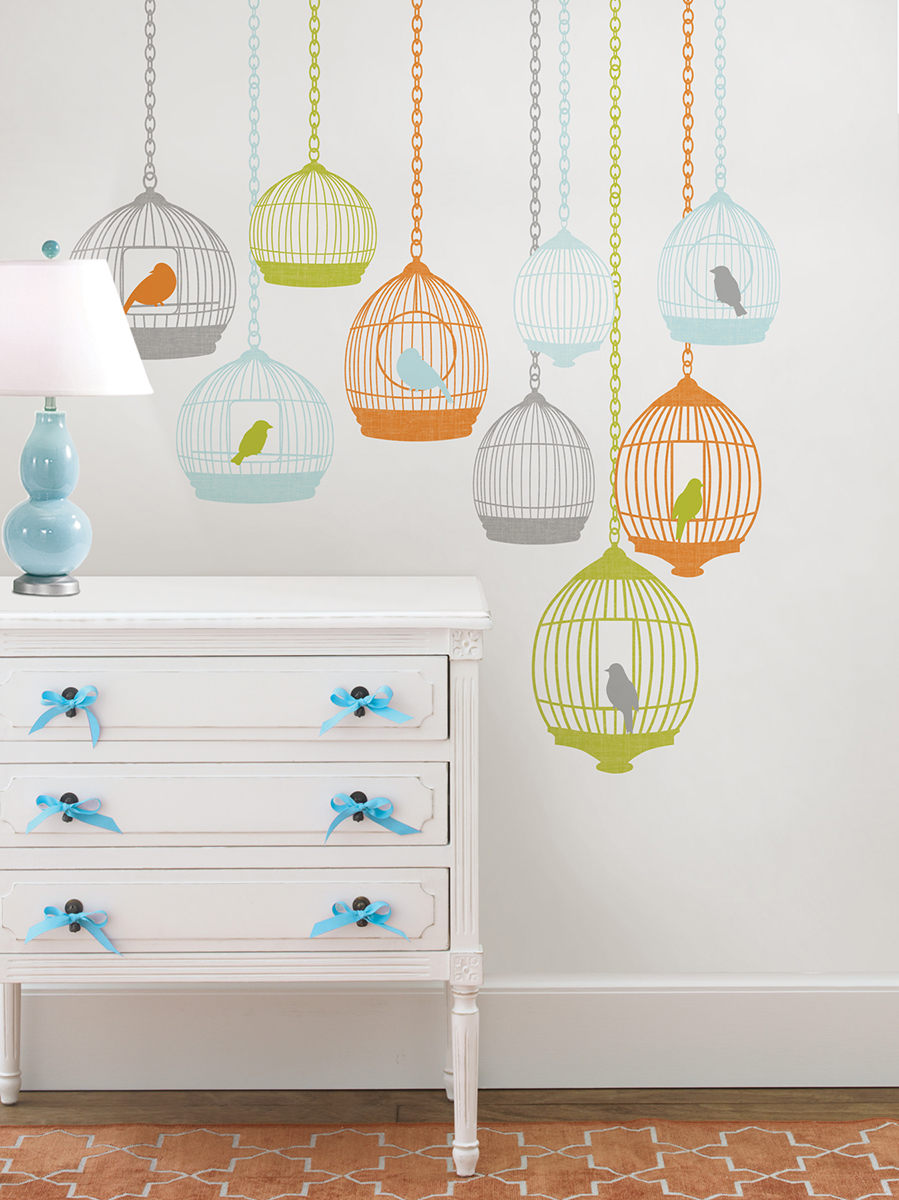bird cage wall decals