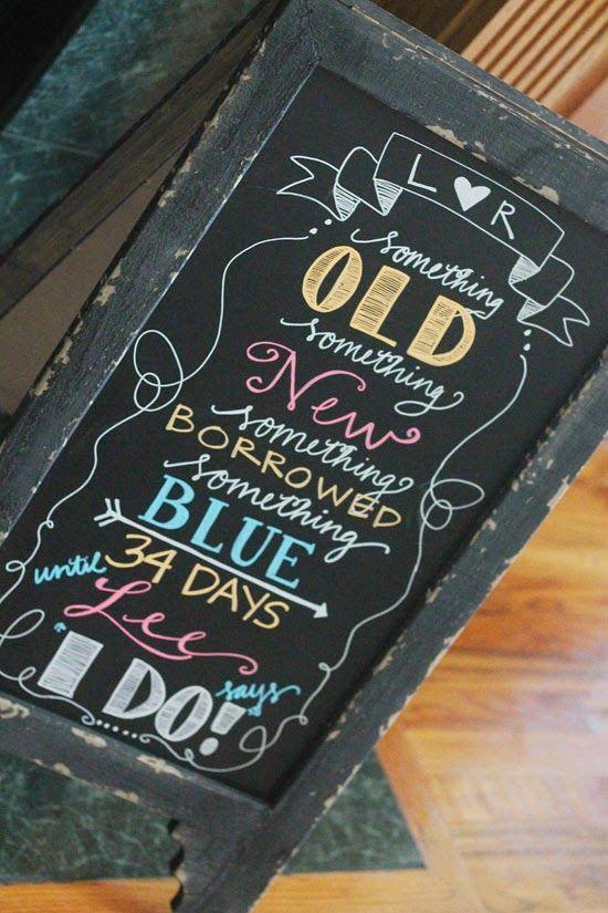 bridal chalkboard sign