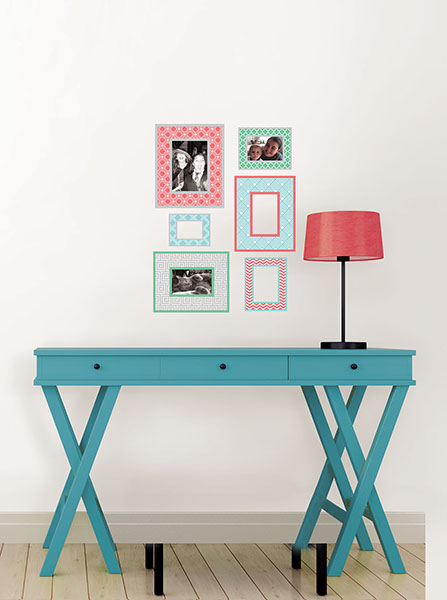 Peel & Stick Frame Decals Dorm Ideas for cute College Decor